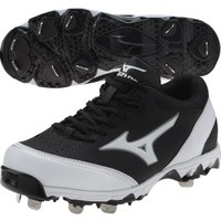 Mizuno Women's 9-Spike Select Fastpitch Softball Cleat - Black/White   DICK'S Sporting Goods