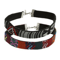 Tribal Fabric Choker - Multi