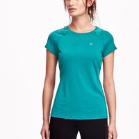 Old Navy Go Dry Mesh Yoke Tee For Women