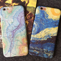 Personality Unique World Map  Mobile Phone Case For Iphone X 8 8plus 7 7plus  5 5s SE 6 6s 6plus 6s plus + Nice gift box!