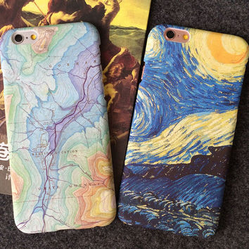 Personality Unique World Map  Mobile Phone Case For Iphone 5 5s SE 6 6s 6plus 6s plus + Nice gift box!