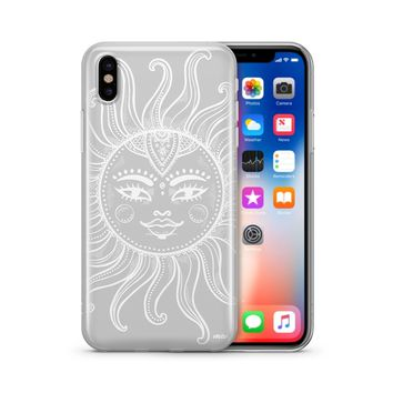Henna Totemic Sun - Clear TPU Case Cover Phone Case