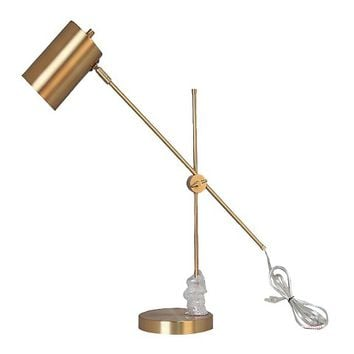 Threshold™ Brass Task Lamp with Cylinder Shade