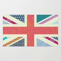 UK Beauty flag Area & Throw Rug by Sharon Turner | Society6