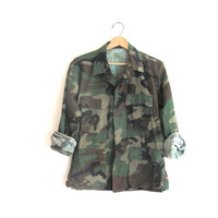 Vintage men's army shirt. military jacket. camouflage coat