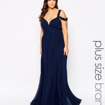 Forever Unique Plus Off The Shoulder Maxi Dress