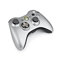 Xbox 360 Silver Controller and Play & Charge Kit