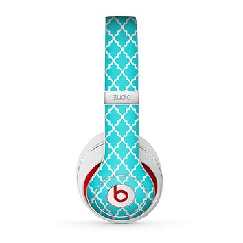 The Morocan Teal Pattern Skin for the Beats by Dre Studio (2013+ Version) Headphones
