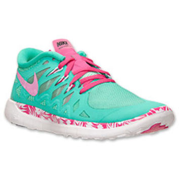 Girls' Grade School Nike Free 5.0 Print Running Shoes