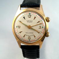 "RARE Legendary Military "" POLJOT Signal Alarm watch "". 1MChZ Kirova 50's, first USSR alarm watch, in great working condition!"