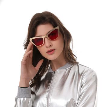 Fashion New Cat Eye Sunglasses Women Brane Design Sun Glasses Ladies Vintage Glasses Female oculos de sol feminino DF18915
