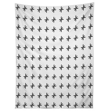 Wesley Bird Cross Out White Tapestry