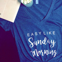Easy like sunday morning V Neck