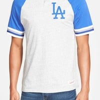 Men's Mitchell & Ness 'Los Angeles Dodgers - Visiting' Raglan Henley,