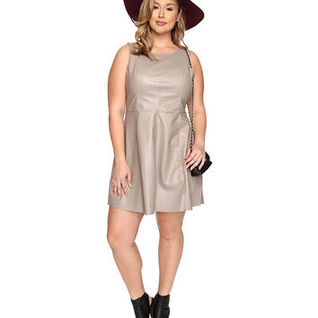 BB Dakota Plus Size Petra Vegan Leather Dress