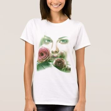 woman with roses T-Shirt
