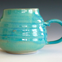 Turquoise Coffee Mug handmade ceramic cup ceramic by ocpottery