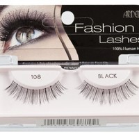 Ardell Fashion Lashes Pair - 108 Black, (Pack of 4)