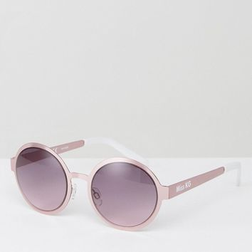 Miss KG Round Tinted Lens Sunglasses at asos.com