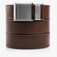 Mocha Brown Belt with Square Buckle