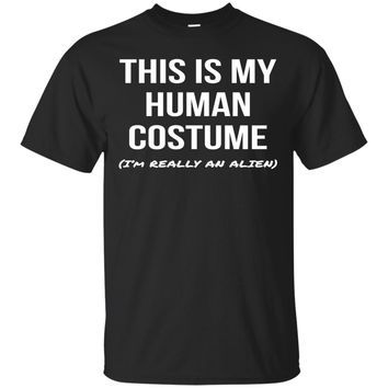 Human Costume I'm Really an Alien Shirt Halloween Tee