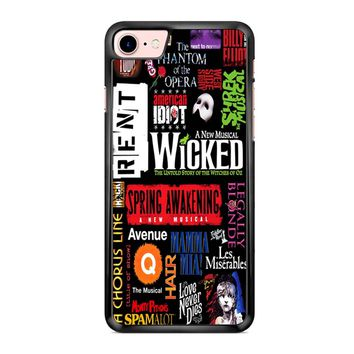 Famous Broadway Musiacal Plays Collage iPhone 7 Case
