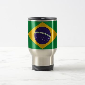 Travel Mug with Flag of Brazil