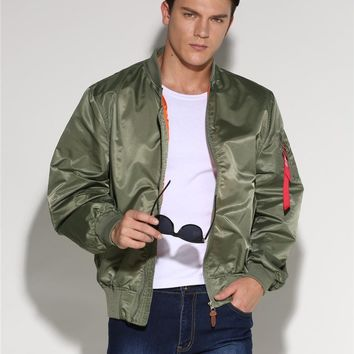 Plus Size 2017 Military Male Army Green MA-1 Flight Bomber Jacket Baseball Varsity American College Pilot Air Force Coat For Men