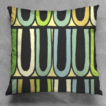 Circus Trim Green Pillow