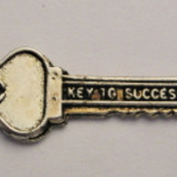 Key To Success Genuine American Pewter Charm