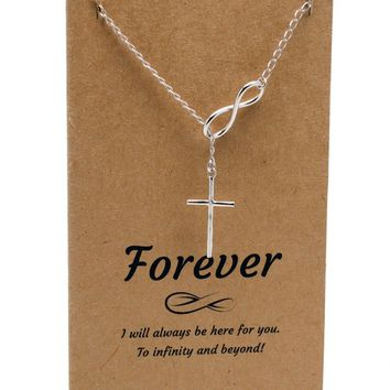 inspired cross infinity item pendant silver designer tiffany sterling style necklace