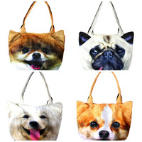Smooshy Face Puppy Dog Tote - 4 Breeds