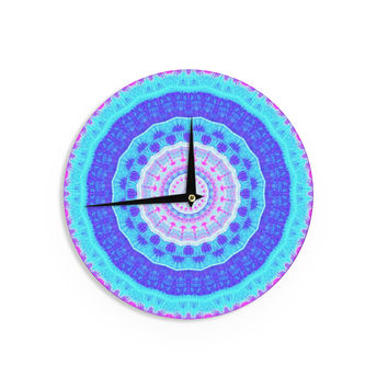 "Iris Lehnhardt ""Summer Colors"" Pink Blue Wall Clock"