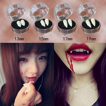Vampire Teeth Fangs Dentures Props Halloween Costume Props Party Favors Mask Holiday DIY Decorations horror adult for kids