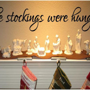The Stockings were Hung Vinyl Wall Art