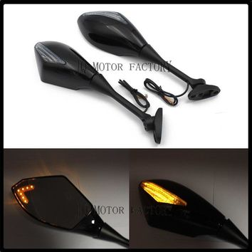 For Honda HTC CBR600RR/CBR1000RR CBR600F4/F4I Motorcycle Rearview Mirrors with LED Turn Signal Light