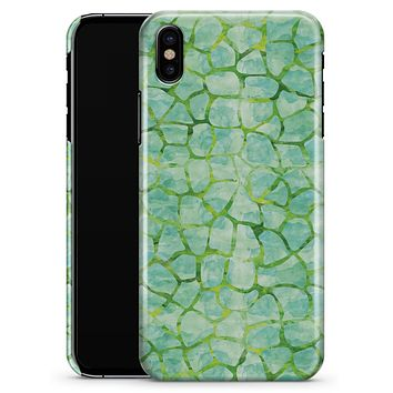 Green Watercolor Giraffe Pattern - iPhone X Clipit Case