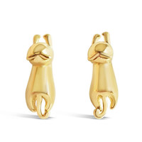 3D Cat Stud Earrings - Cute Hanging Cat Earrings