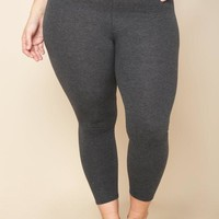 Plus Size Casual High Waist Leggings Bottoms+ GS-LOVE