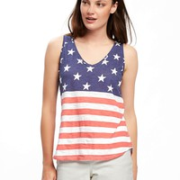 Relaxed Americana Slub-Knit Tank for Women | Old Navy