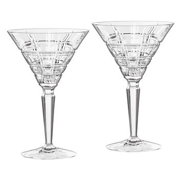 Marquis by Waterford Crystal Crosby 2-pc. Martini Glass Set (Clear)