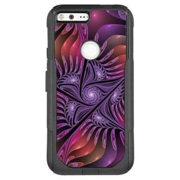 Colorful Fantasy Abstract Modern Purple Fractal OtterBox Commuter Google Pixel XL Case