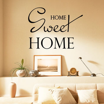 Wall Decal Quotes Home Sweet Home Design Vinyl Decals Living Room Bedroom Hotel Hostel Window Stickers Home Art Murals Decor 3767