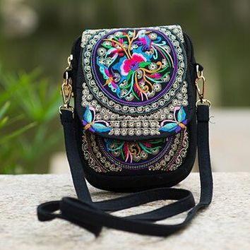 Embroidery Shoulder Messenger Bags For Women