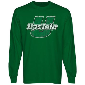 USC Upstate Spartans Distressed Primary Long Sleeve T-Shirt - Green