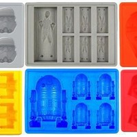 Jollylife Silicone Ice Tray for Party Theme Set of 6