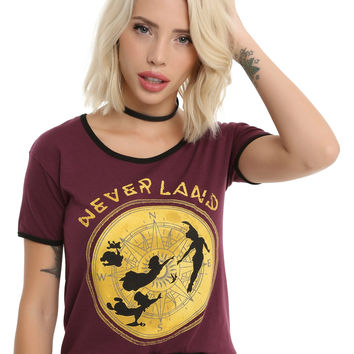 Disney Peter Pan Neverland Compass Ringer Hi-Low Girls T-Shirt