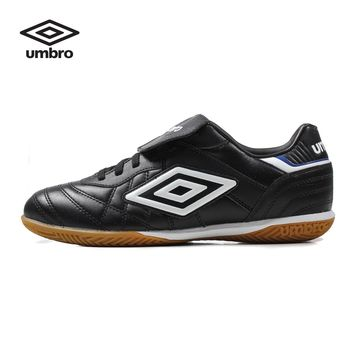 Umbro Men  Soccer Shoes Sports Sneaker Indoor Soccer Boots Turf Shoes Leather Lace-up Professional Football Shoes UCB90115