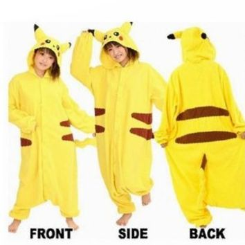 YiTao Deal Anime Pokemon Pikachu Romper Pajamas Costume Cosplay Outfit Size M