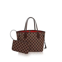 LV Damier Ebene Canvas Neverfull PM N41359 tote bag